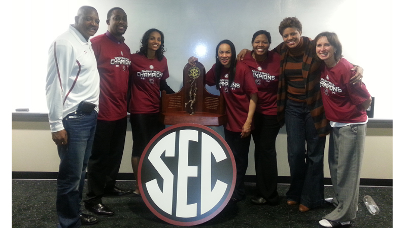 FHA & Associates celebrates the South Carolina staff on first-ever SEC Championship