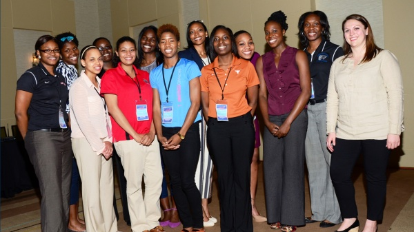 2014 NCAA Scholarship recipients and Sarah Sadowski of the NCAA.